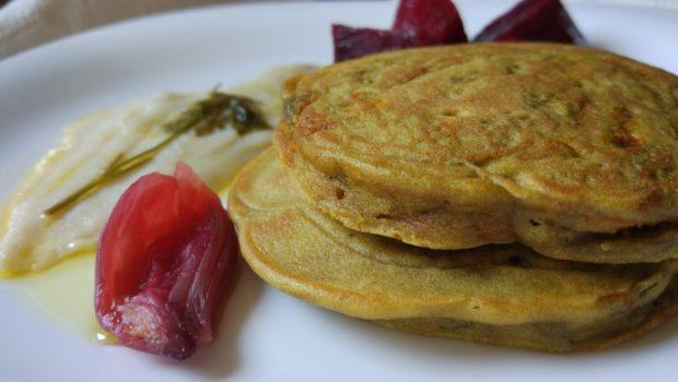 Pancakes salati ai fiori di zucca senza glutine