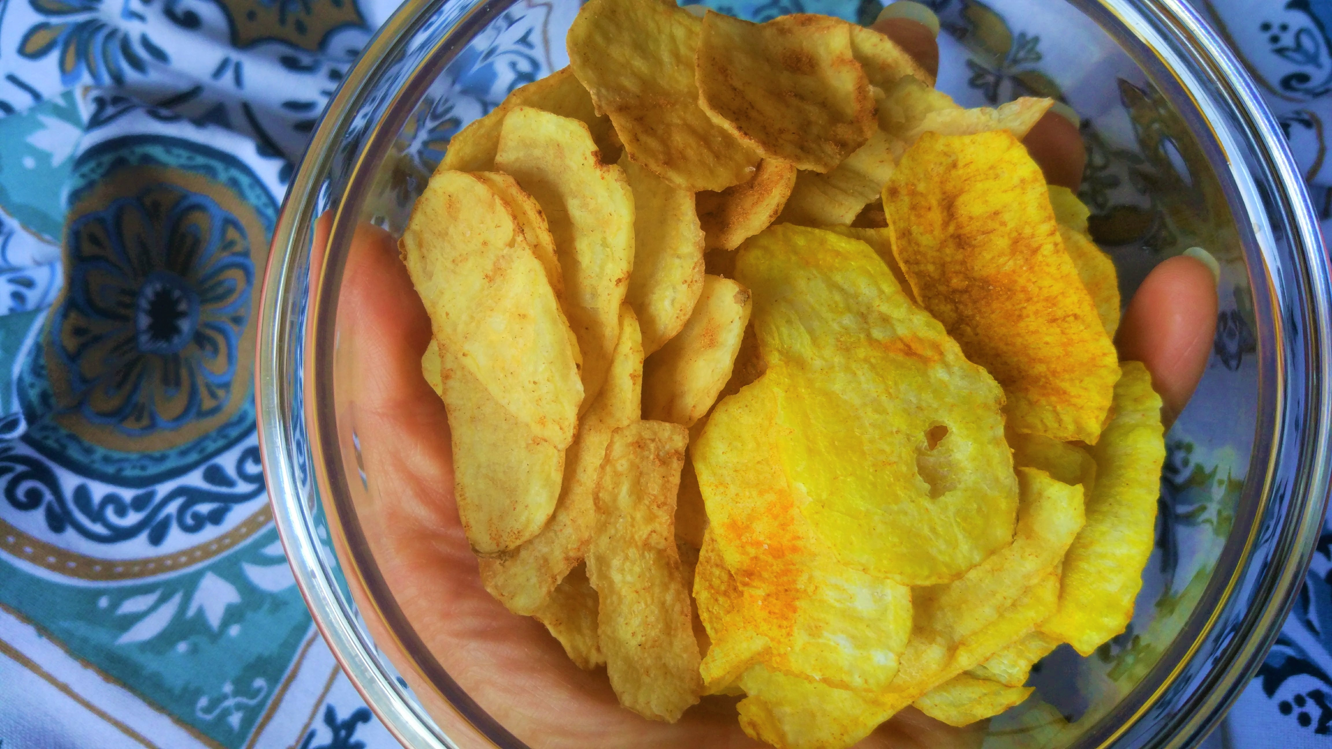 Chips speziate light al microonde