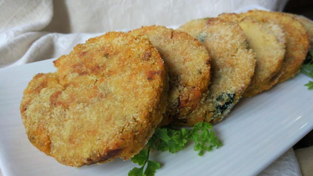 Burger di quinoa e zucca alle verdure in 3 varianti