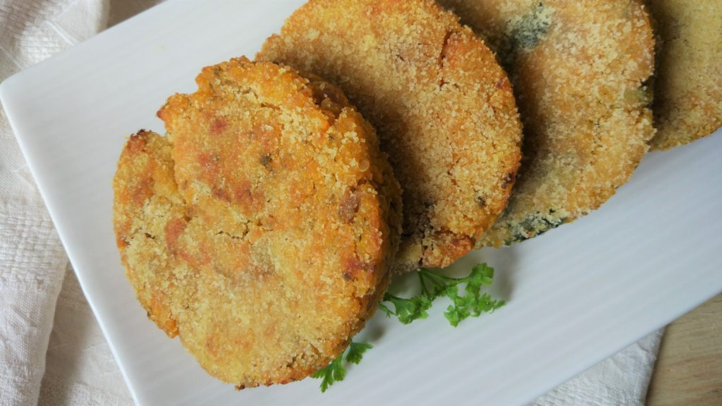 Burger di quinoa e zucca alle verdure