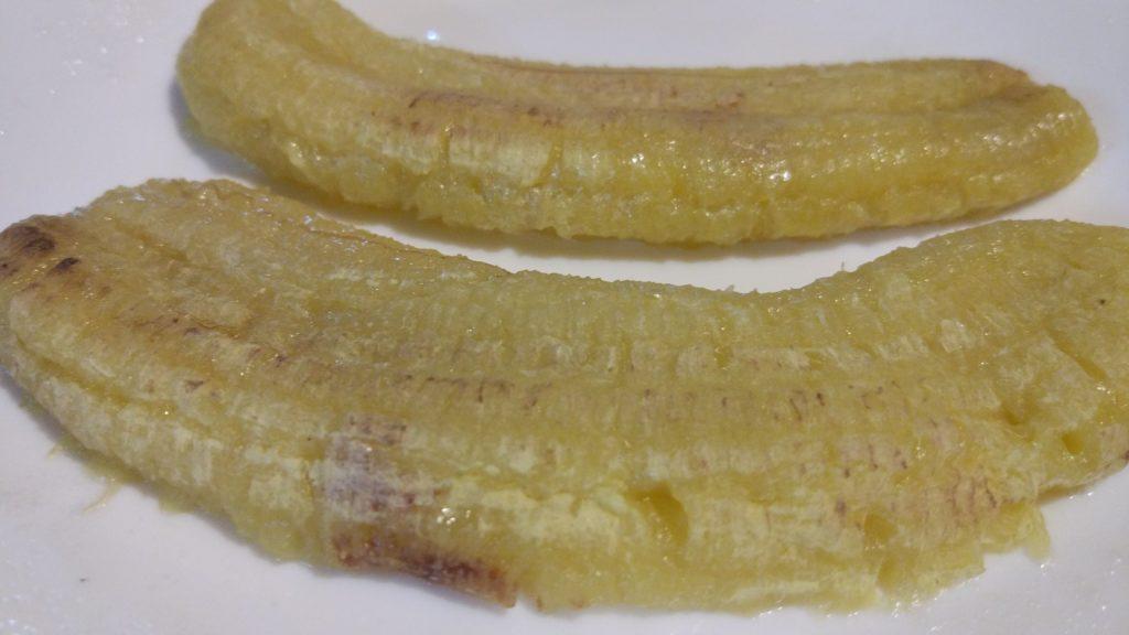Banane cotte al microonde