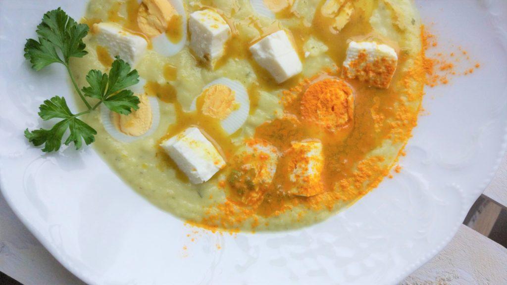 Crema di zucchine fredde e feta
